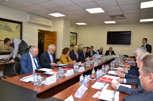 A meeting of representatives of ACCNI chaired by the President of the Russian Union of Builders V. Yakovlev